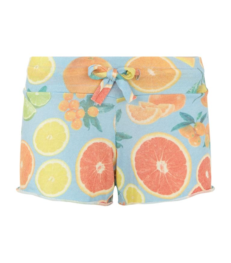 Wildfox Cutie Fruit Shorts In Blue