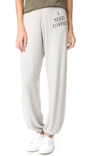 Wildfox Desperate Morning Sweatpants In Grey