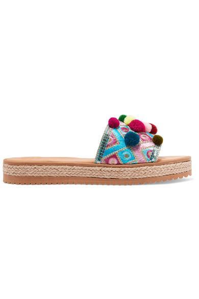 Mabu By Maria Bk Violette Embellished Leather Platform Sandals