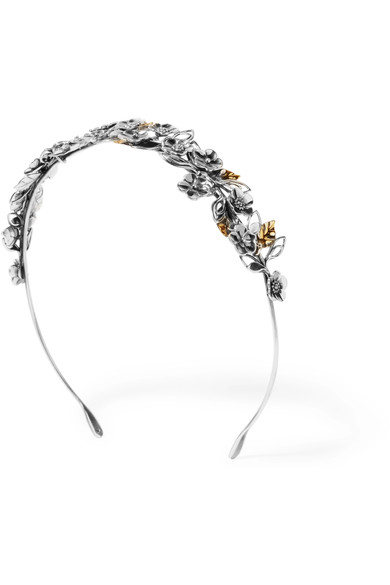 Bottega Veneta Burnished Silver And Gold-Tone Headband