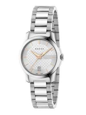 Gucci G-Timeless Stainless Steel Bracelet Watch/Silvertone In Na