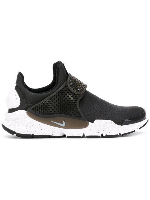 Nike Sock Dart Premium Faux Leather Sneakers In Coral