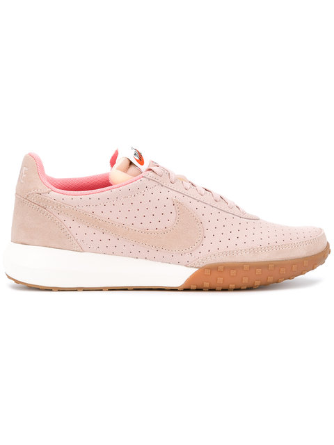 Nike Roshe Waffle Trainers With Leather And Suede In Pink