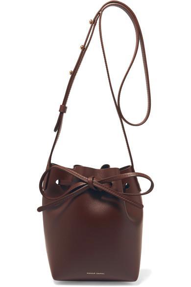 Mansur Gavriel Mini Mini Leather Bucket Bag In Wine