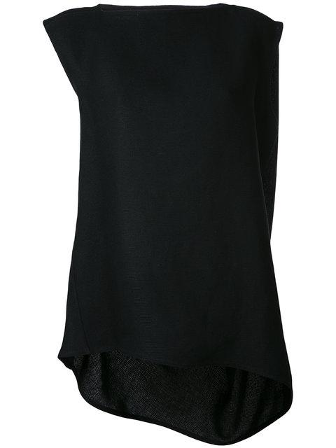 Rick Owens Nouveau Oversized Textured Top In Black