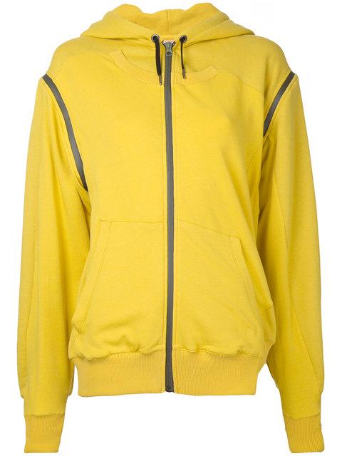 A.F.Vandevorst Asymmetric Long Sleeve Hoodie In Yellow