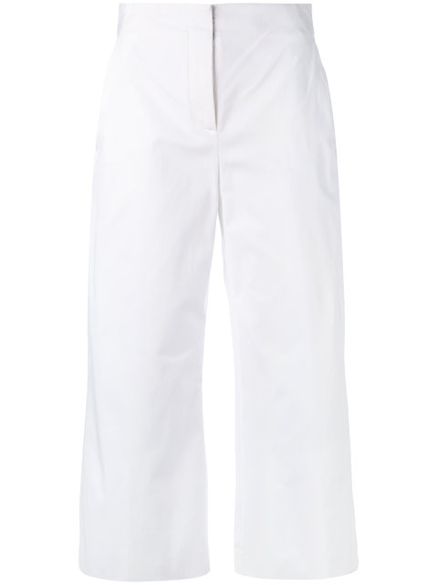 Versace Cropped Trousers - White