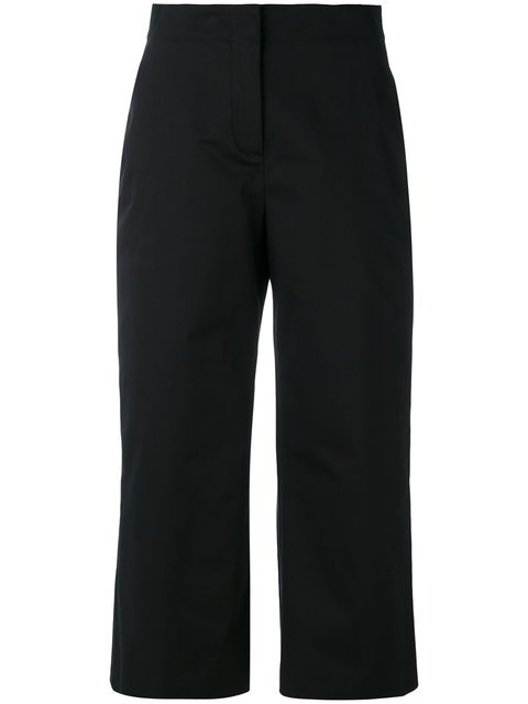 Versace Cropped Trousers - Black