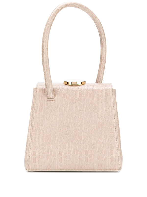 Little Liffner Mademoiselle Leather Top Handle Bag In Neutrals