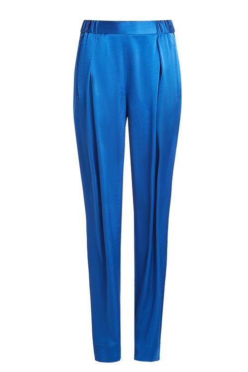 Diane Von Furstenberg Satin Pants In Blue