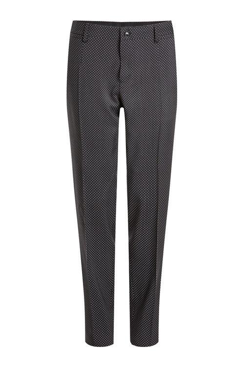 Dolce & Gabbana Printed Virgin Wool Pants In Black