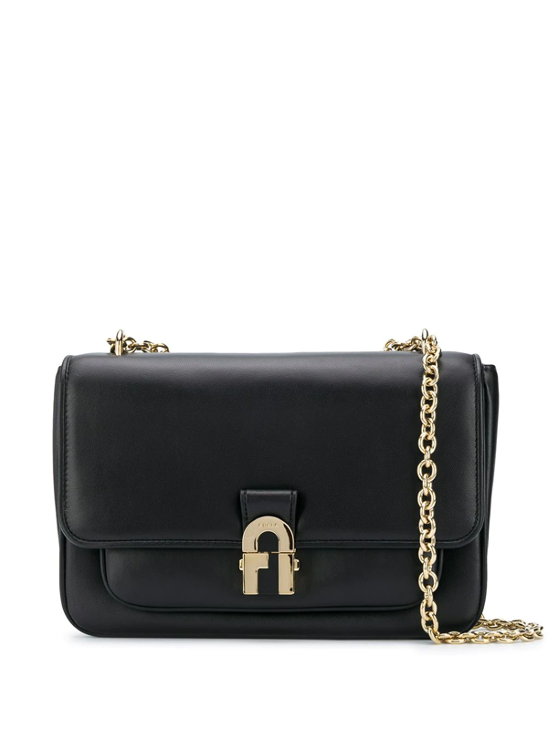 Furla Cosy Clutch Bag Black Leather Woman