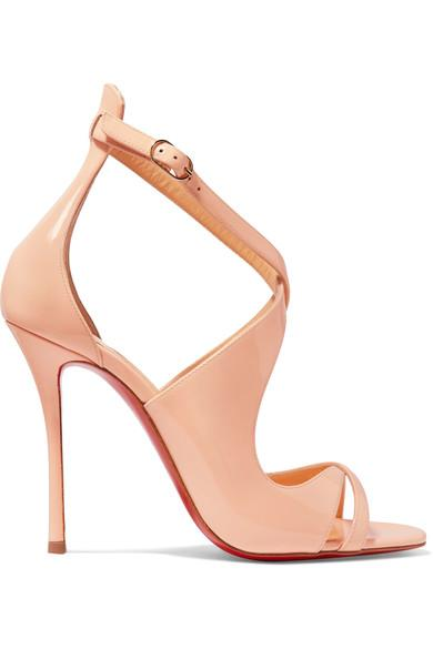 Christian Louboutin Malefissima 100 Patent-Leather Sandals
