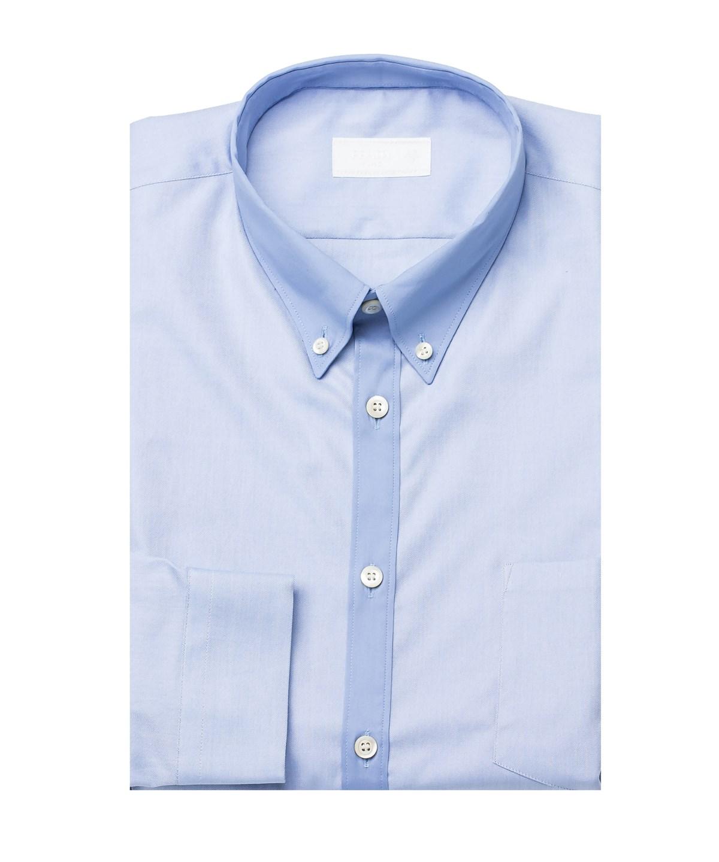 Prada Men's Point Collar Oxford Cotton Dress Shirt Blue