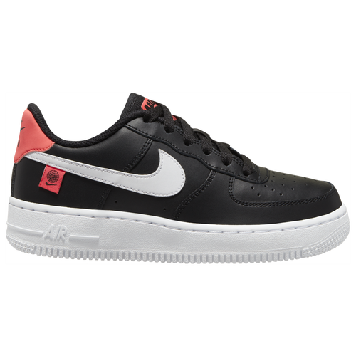 Nike Kids' Air Force 1 Lv8 Platform Sneaker In Black/ White/ Flash Crimson