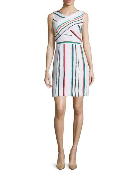 Milly Allison St. Tropez Striped Dress, Multi Colors In White Multi