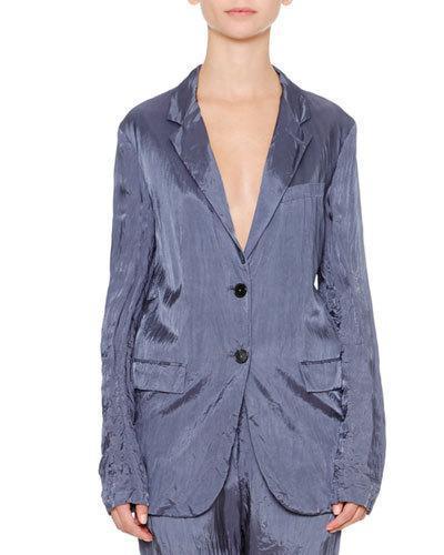 Jil Sander Artaud Two-Button Jacket, Slate Blue