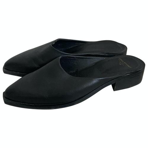 Pre-owned Royal Republiq Black Leather Mules & Clogs