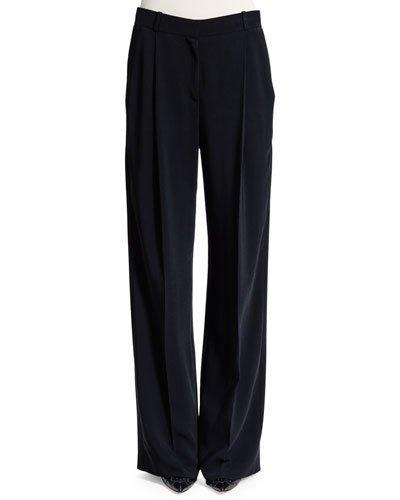 Givenchy Star Wide-Leg Pants, Black