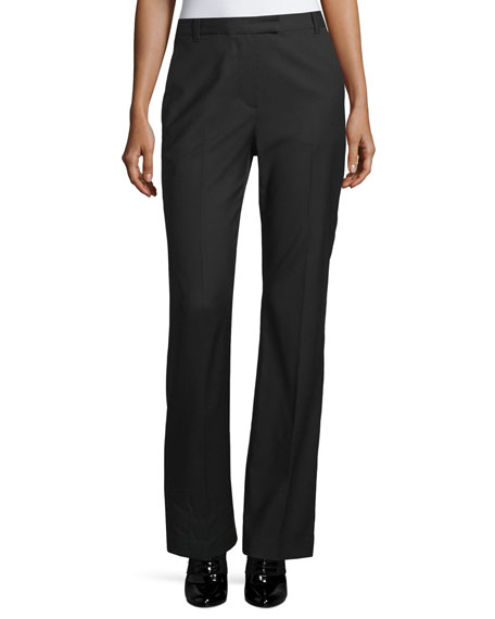 3.1 Phillip Lim Boot-Cut Stove Pipe Trousers, Black