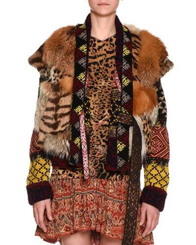 Etro Mixed-Fur Vest In Ivory