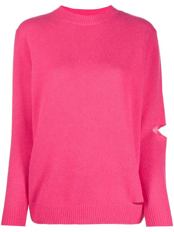 Stella Mccartney Alpasoft Knit Jumper In Pink