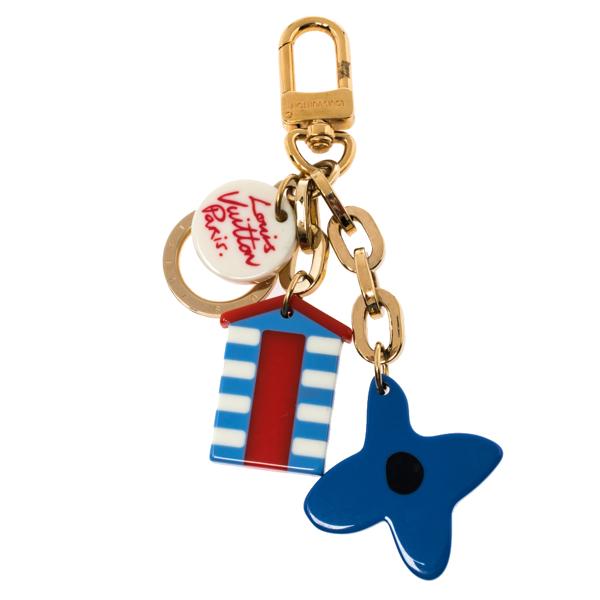 Pre-owned Louis Vuitton Multicolor Ailleurs Beach Charm Key Ring/ Bag Charm