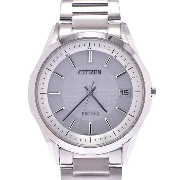 Pre-owned Citizen Silver Titanium Exceed Eco-drive H110-t020011 Men's Wristwatch 37mm
