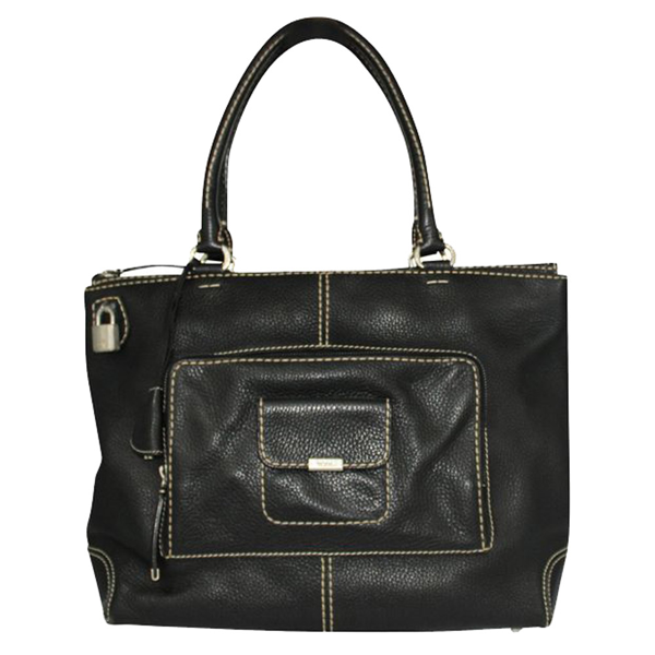 Pre-owned Tod's Black Leather Totes