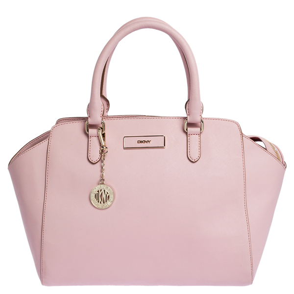 Pre-owned Dkny Pink Leather Zipped Satchel