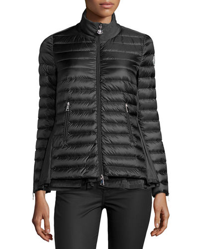 Moncler Grenouille Flyaway Puffer Coat In Black