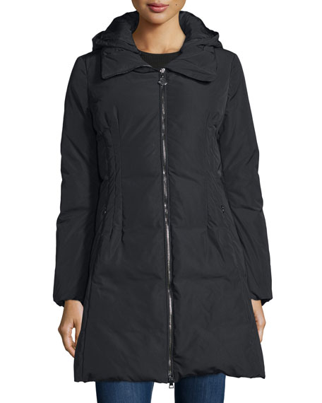 Moncler Renne Down Matte Coat, Black