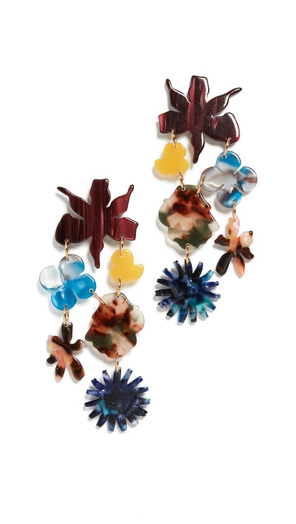 Lele Sadoughi Women's Wildflower Bouquet Earrings In Cinnamon