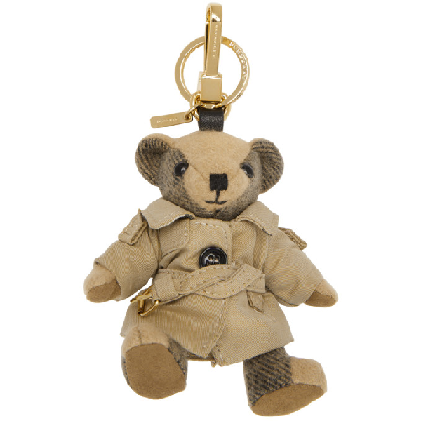 Burberry Thomas Trenchcoat Bear Bag Charm, Camel