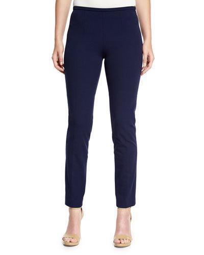 Michael Kors Side-Zip Skinny Pants, Maritime
