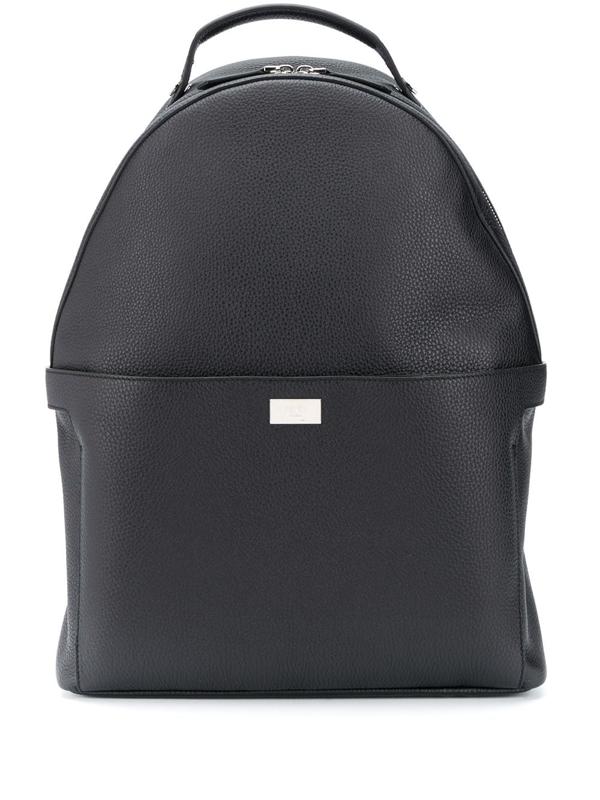 Fendi Peekaboo Grained-leather Backpack In Black