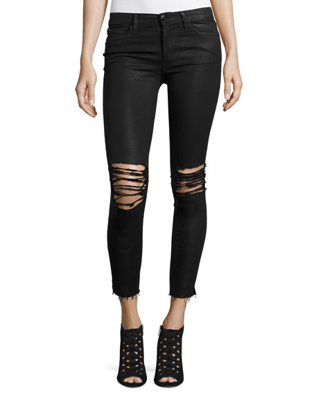 Joe's Jeans The Icon Ankle Coated Jeans W/Distressing, Masie