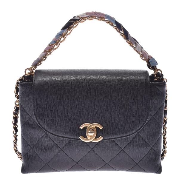 Pre-owned Chanel Black Caviar Flap Chain Shoulder Bag