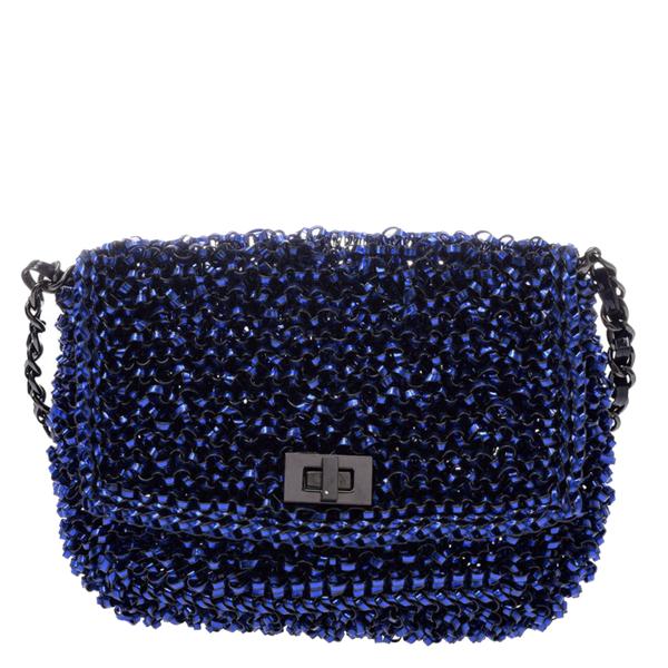 Pre-owned Anteprima Blue Vinyl Wire Chain Shoulder Bag