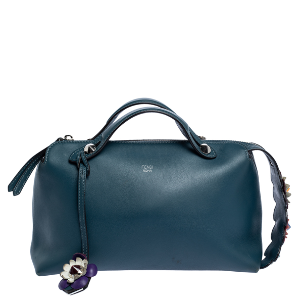 Pre-owned Fendi Pale Blue Leather Small By The Way Shoulder Bag