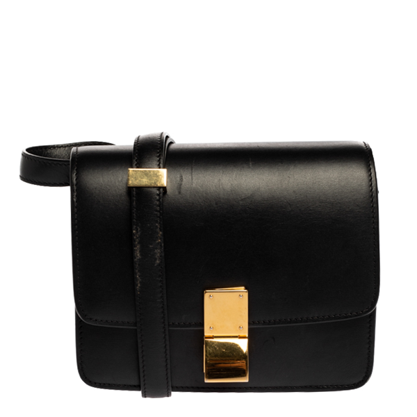 Pre-owned Celine Black Leather Small Box Bag