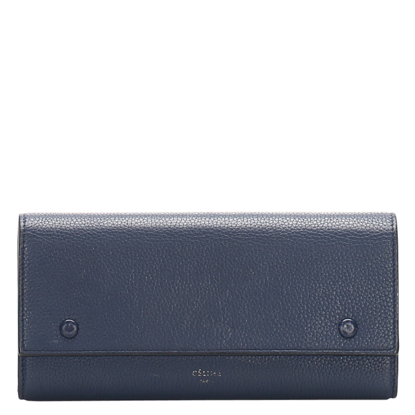 Pre-owned Celine Blue Leather Wallets
