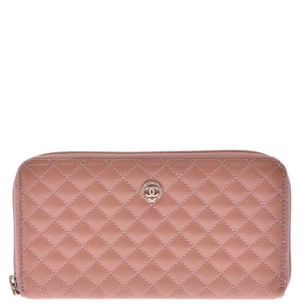 Pre-owned Chanel Beige Matelasse Leather Classic Wallet