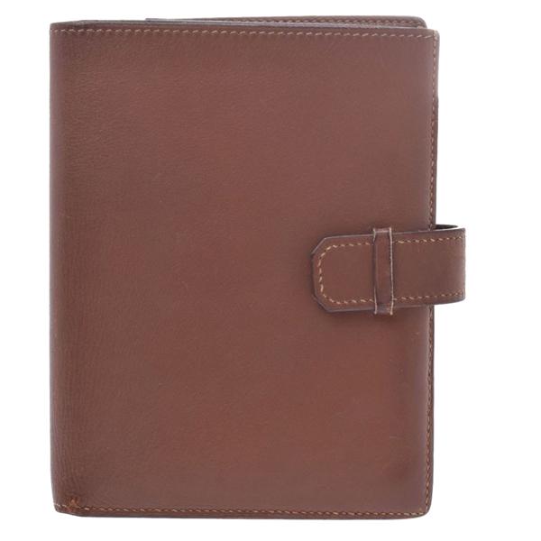 Pre-owned Hermes Brown Leather Jura Wallet
