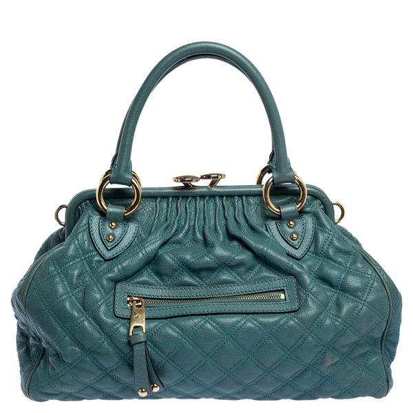 Pre-owned Marc Jacobs Pale Green Quilted Leather Stam Shoulder Bag