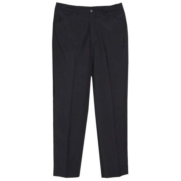 Pre-owned Emporio Armani Black Wool Blend Trousers S