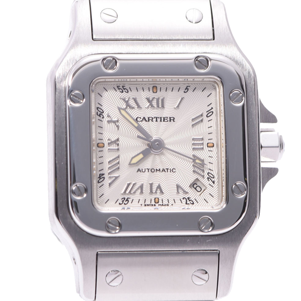 Pre-owned Cartier Silver Stainless Steel Santos Galbee W20044d6 Women's Wristwatch 24 Mm