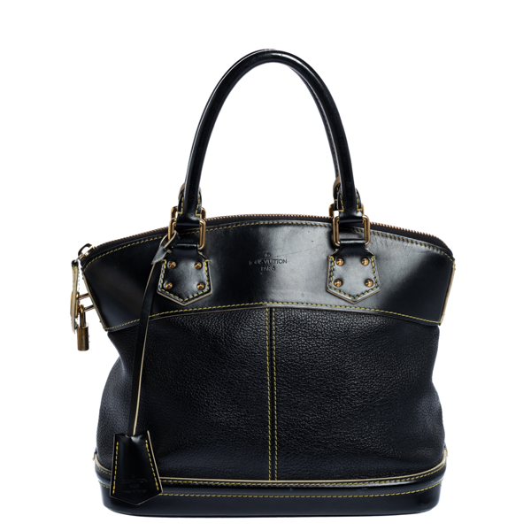 Pre-owned Louis Vuitton Black Suhali Leather Lockit Pm Bag