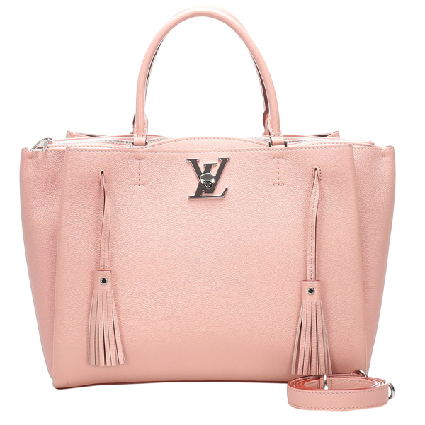 Pre-owned Louis Vuitton Pink Leather Lockmeto Satchels