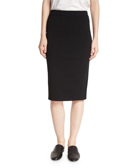 Vince Jersey Pencil Skirt, Black